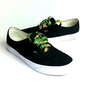 Vans Off the Wall Unisex Shoes Black Custom Laces